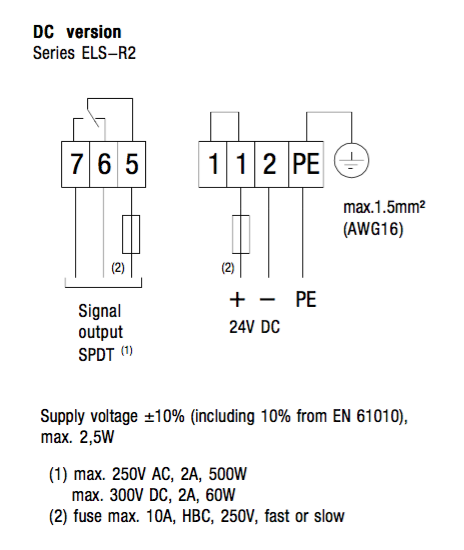 Ngõ ra dạng Logic Relay của ELS-R2