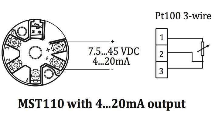 Cách cài đặt thang đo Bộ chuyển đổi tín hiệu điện trở pt100 MST110