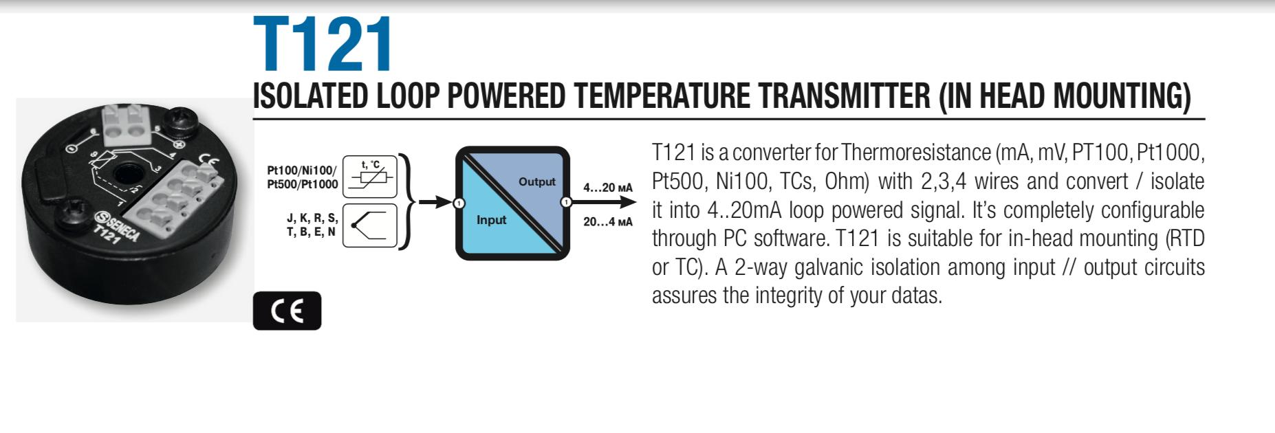 Bộ chuyển đổi nhiệt độ PT100 ra 4-20ma T120