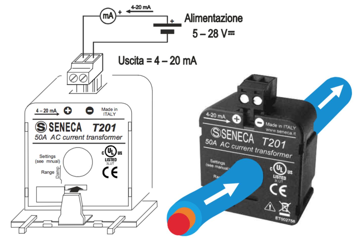 Cách đấu biến dòng 4-20ma T201