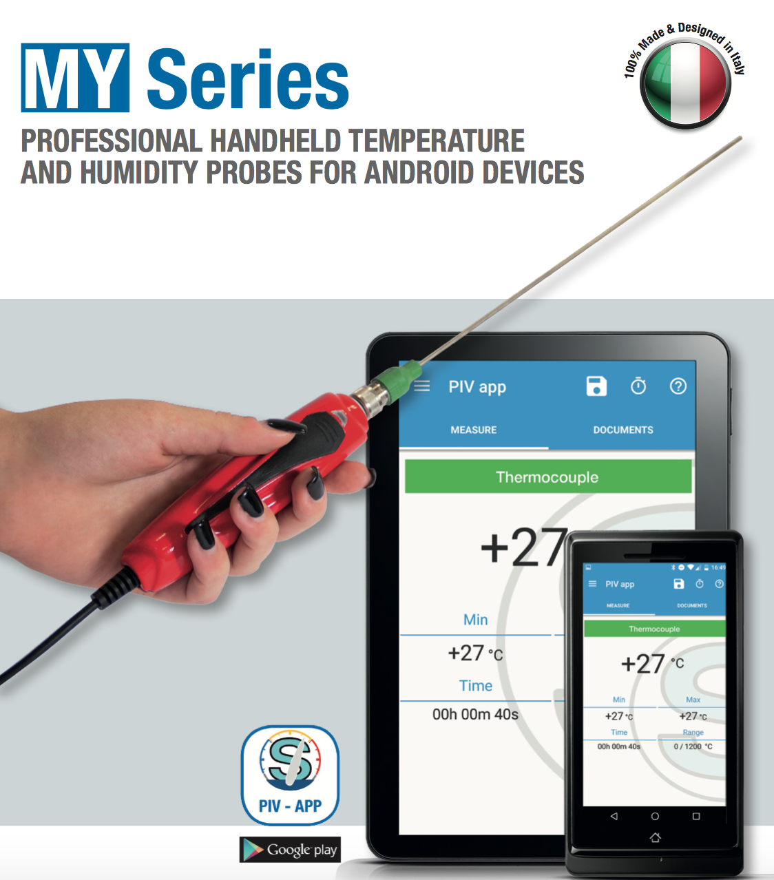 Bộ đo nhiệt độ cầm tay MY Series - Kết nối máy tính