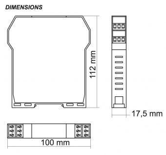 Kích thước Ứng dụng Bộ cách ly tín hiệu 4-20mA - Current Isolator - Z110S