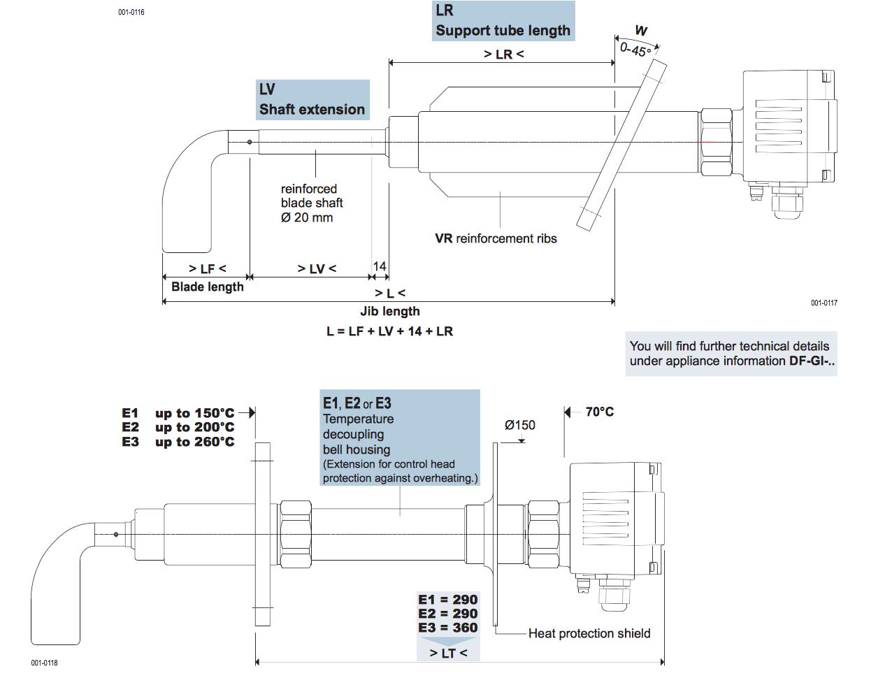 Thông số kỹ thuật Cảm Biến Báo Đầy Báo Cạn Silo DF24