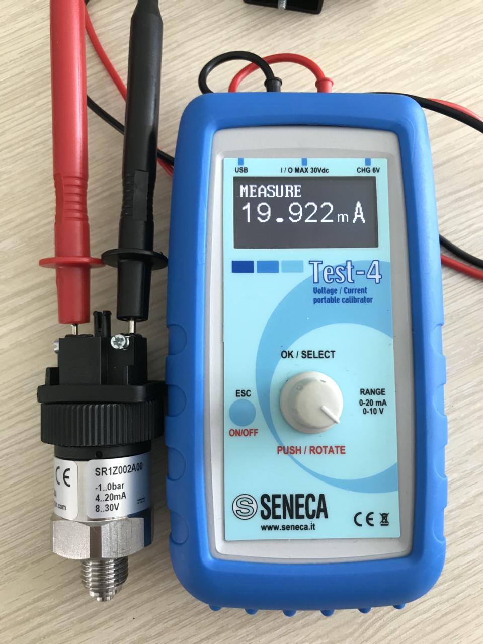 Dùng đồng hồ đo dòng Cảm Biến Áp Suất Âm -1...0Bar Sr1