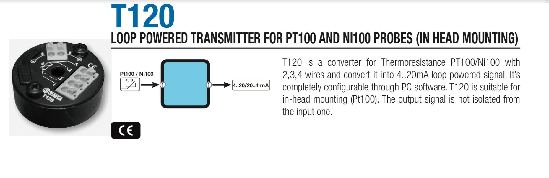 Bộ chuyển đổi pt100 ra 4-20mA gắn tủ điên
