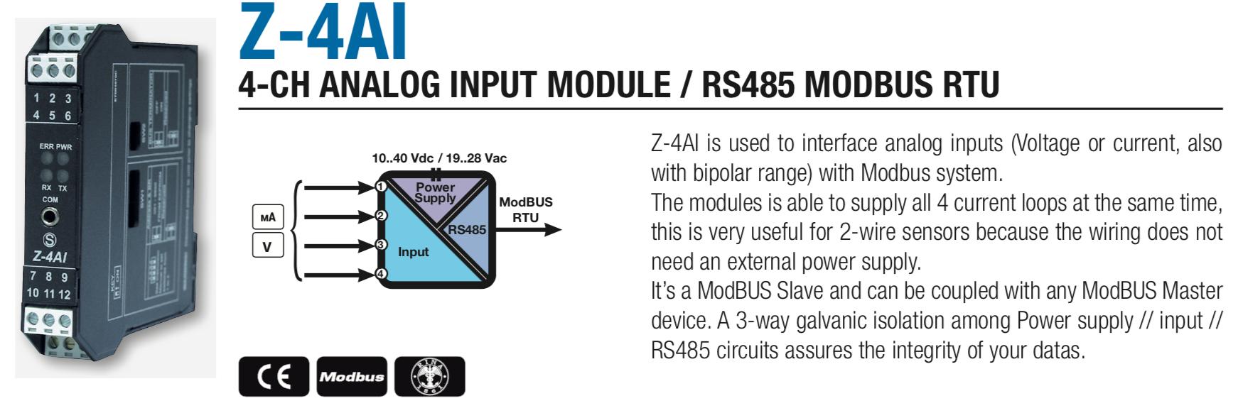 Bộ chuyển đổi analog sang modbus RS485