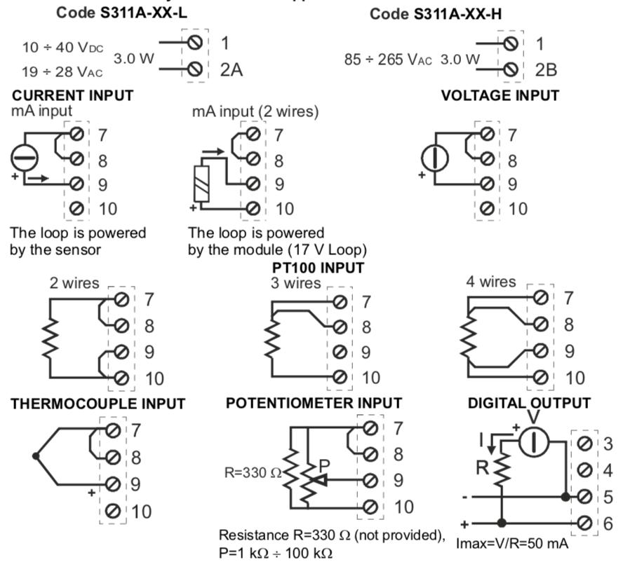 Cách đấu dây cảm biến nhiệt độ Pt100 với bộ hiển thị S311A