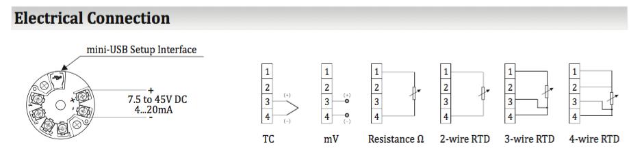 Bộ chuyển đổi tín hiệu can nhiệt K sang 4..20ma
