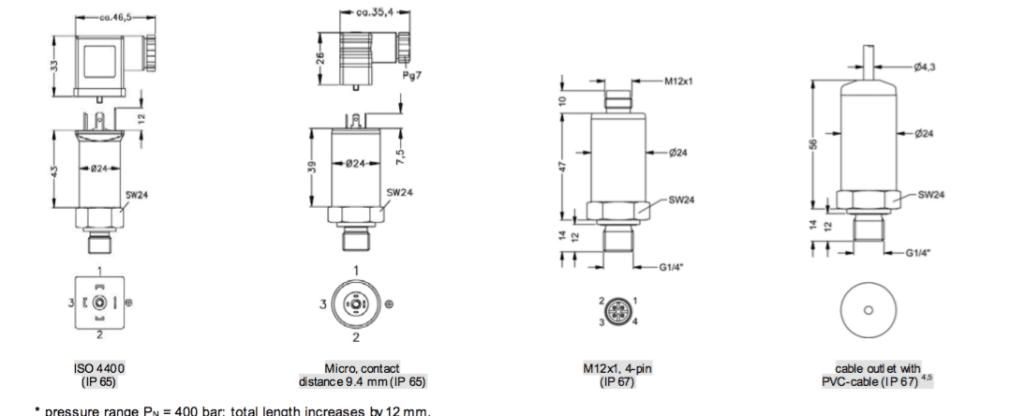 Các kiểu kết nối của cam bien Bd 26.600G