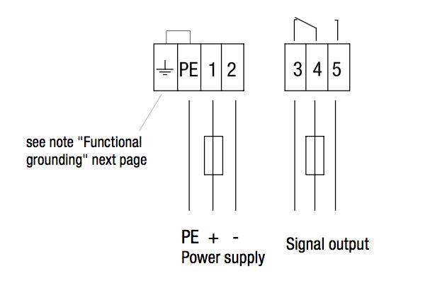 Sơ đồ đấu dây Cảm biến báo mức điện dung CN4020