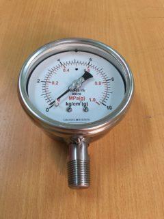 đồng hồ áp suất hai đơn vị