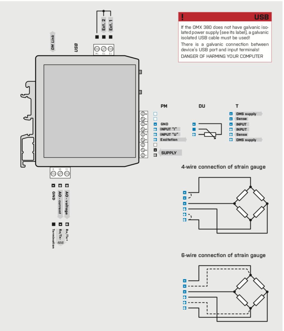 Sơ đồ đấu dây Bộ chuyển đổi tín hiệu loadcell sang dòng 4-20ma