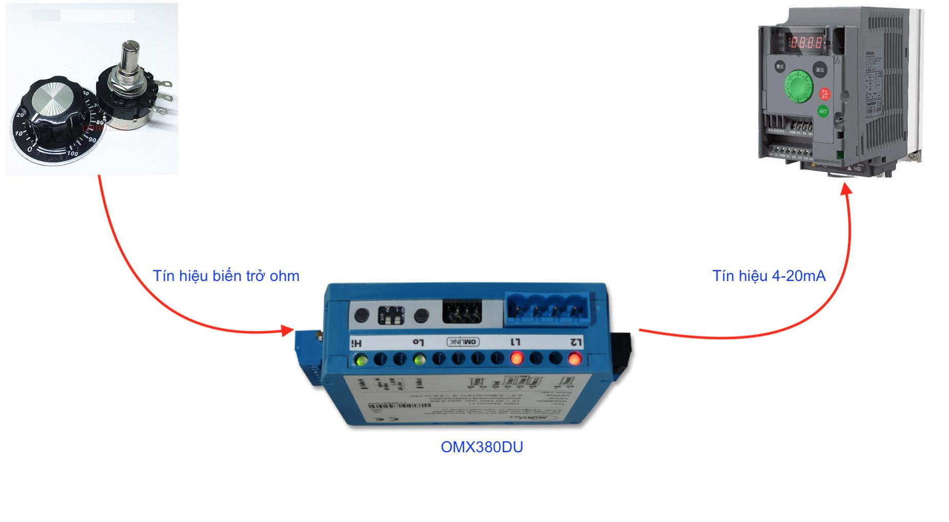 Ứng dụng bộ chuyển biến trở sang 4-20mA