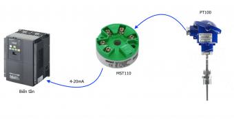Ứng dụng Bộ chuyển đổi tín hiệu nhiệt độ pt100 sang 4-20ma
