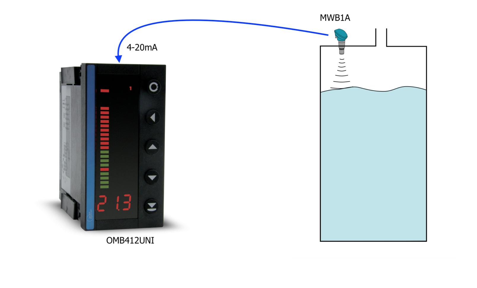 Bộ hiển thị kết hợp cảm biến mức nước