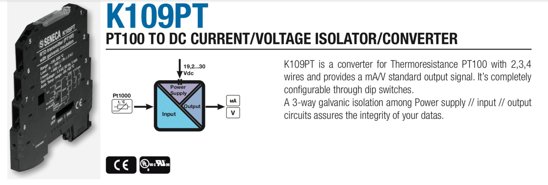 Bộ chuyển đổi nhiệt độ gắn tủ điện K109PT