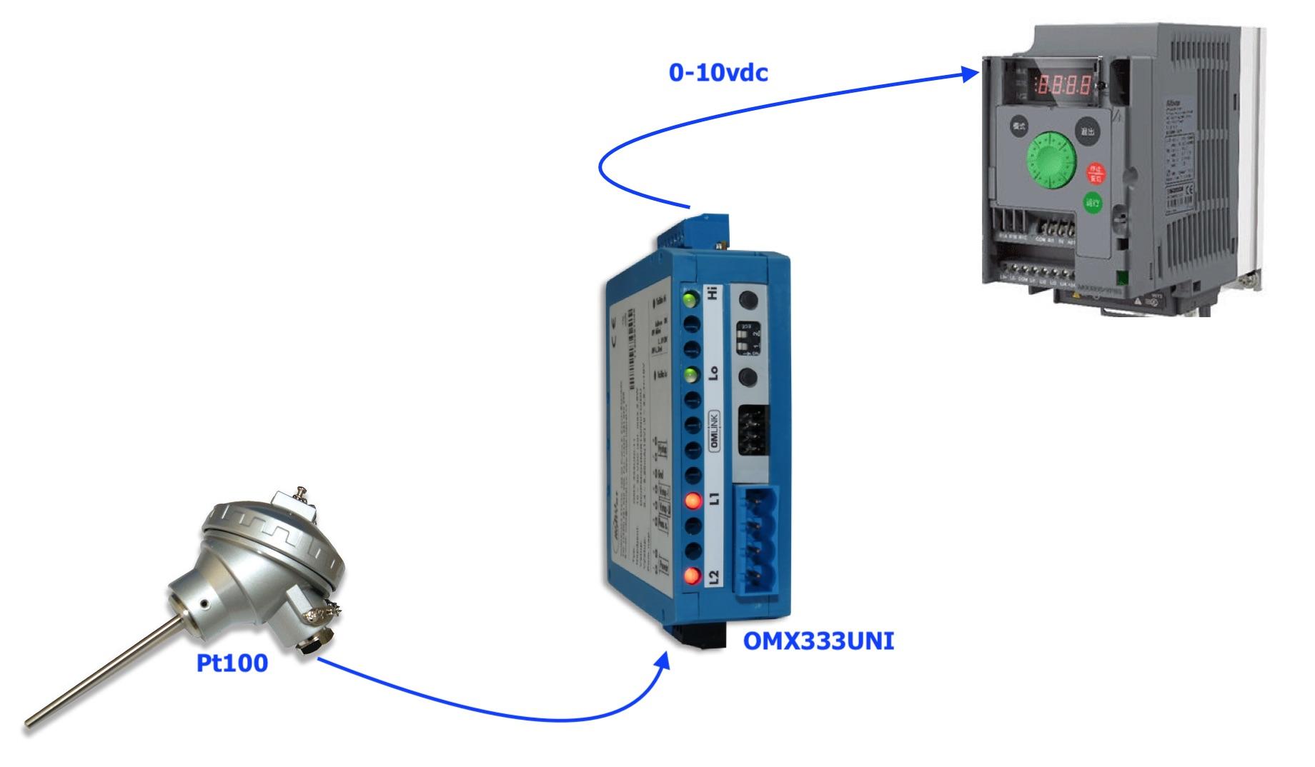 Bộ chuyển tín hiệu nhiệt độ Pt100 sang 0-10v