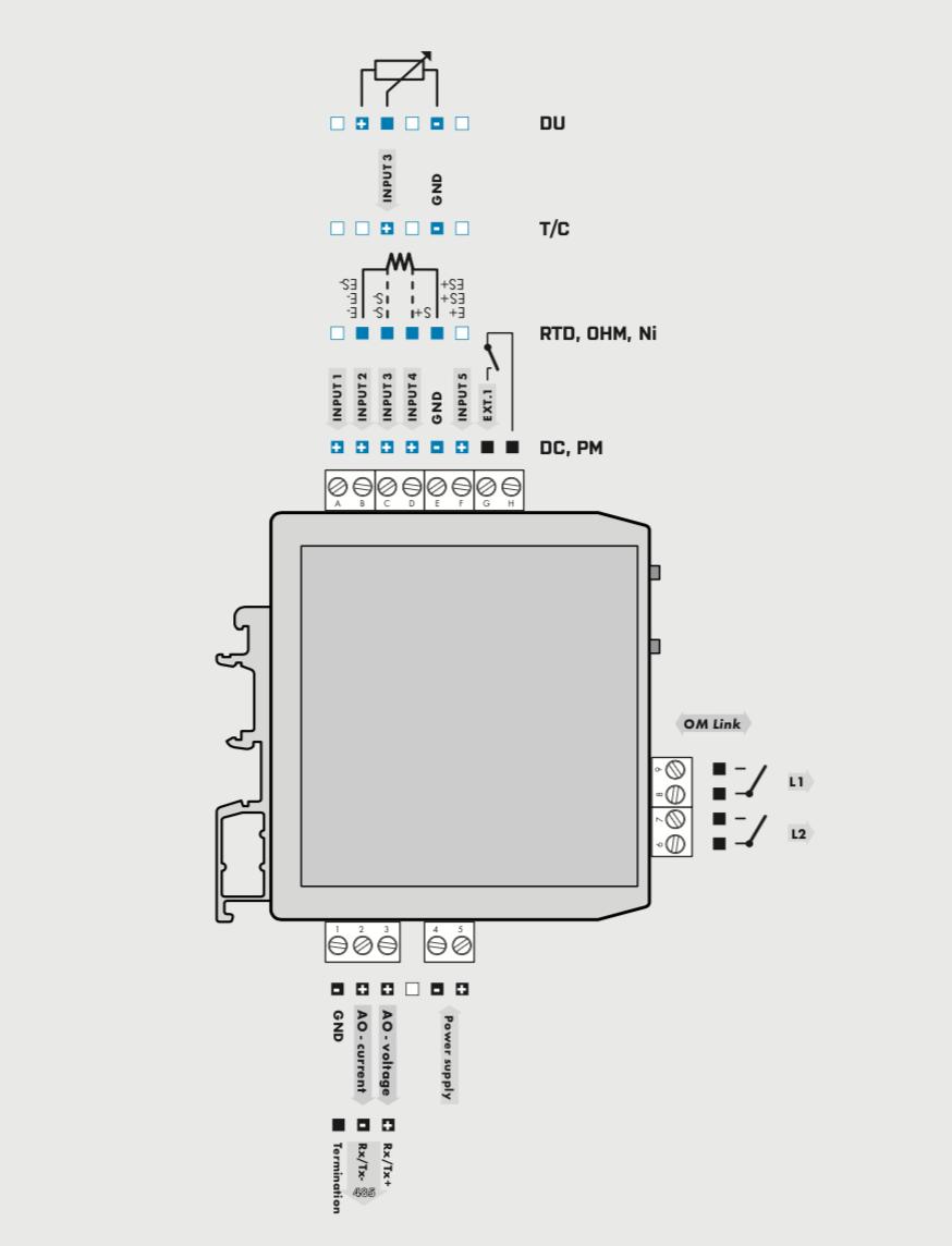 Sơ đồ đấu dây bộ chuyển đổi  OMX333UNI