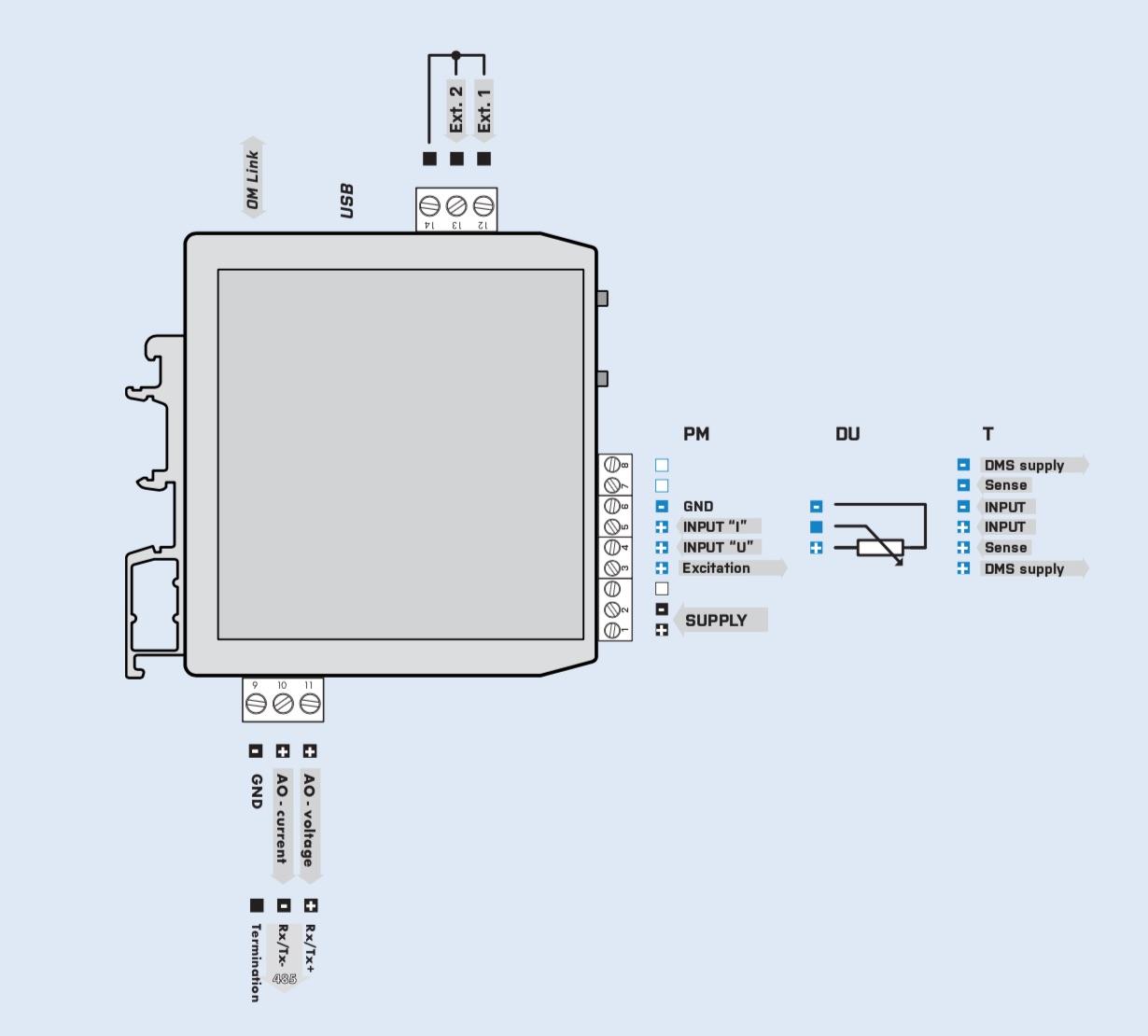 Đấu dây bộ hiển thị loadcell