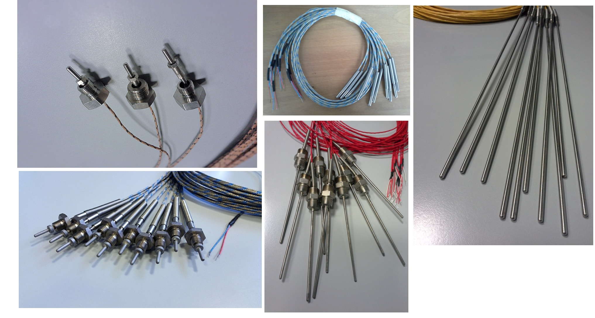 Các dòng cảm biến Pt100 dạng dây