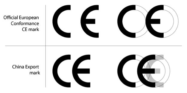 CE Châu au Và CE giả của Trung Quốc