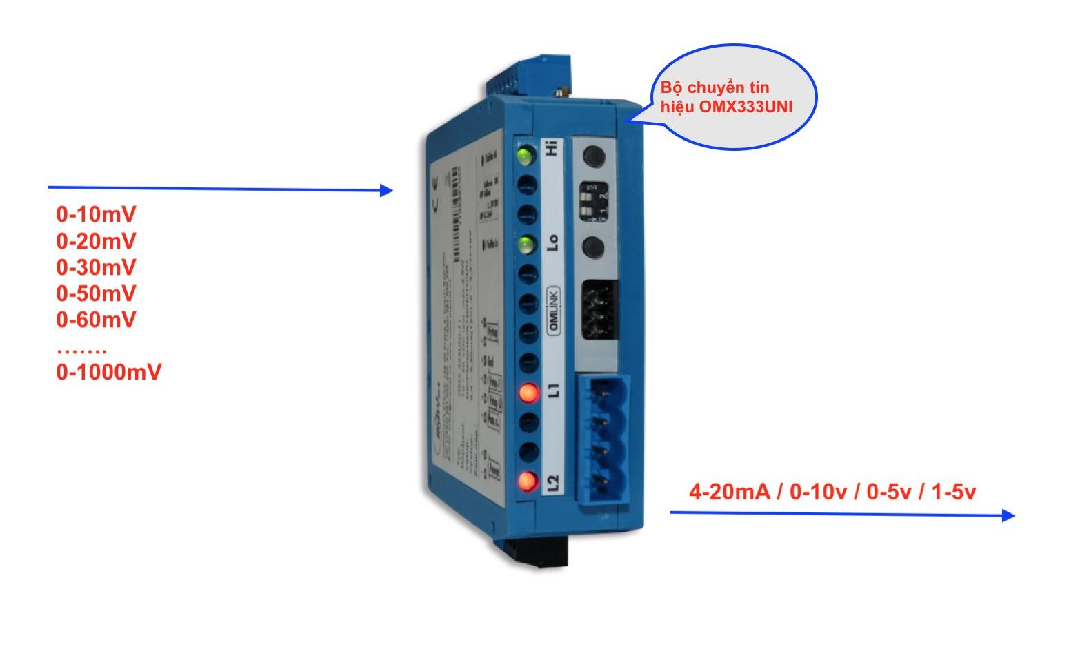 Bộ chuyển tín hiệu 0-75mV sang 4-20mA