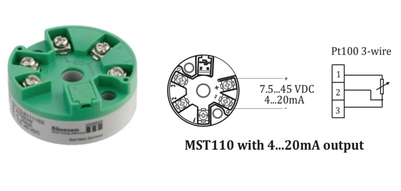 Sơ đồ dấu dây bộ chuyển tín hiệu MST110