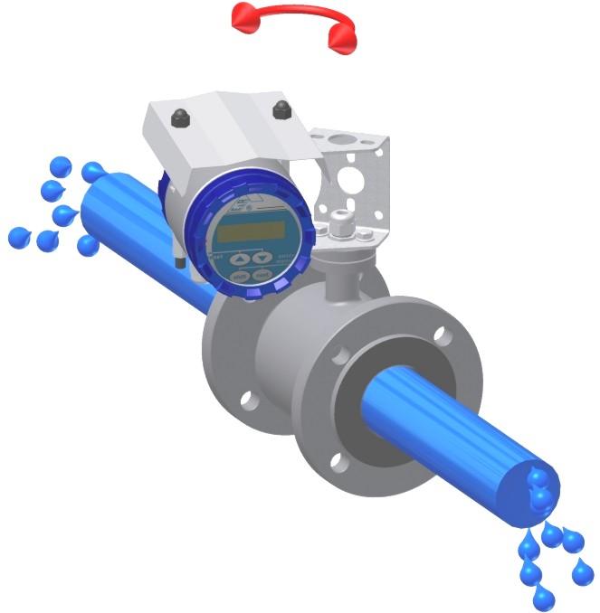 Đồng hồ lưu lượng nước dạng điên từ