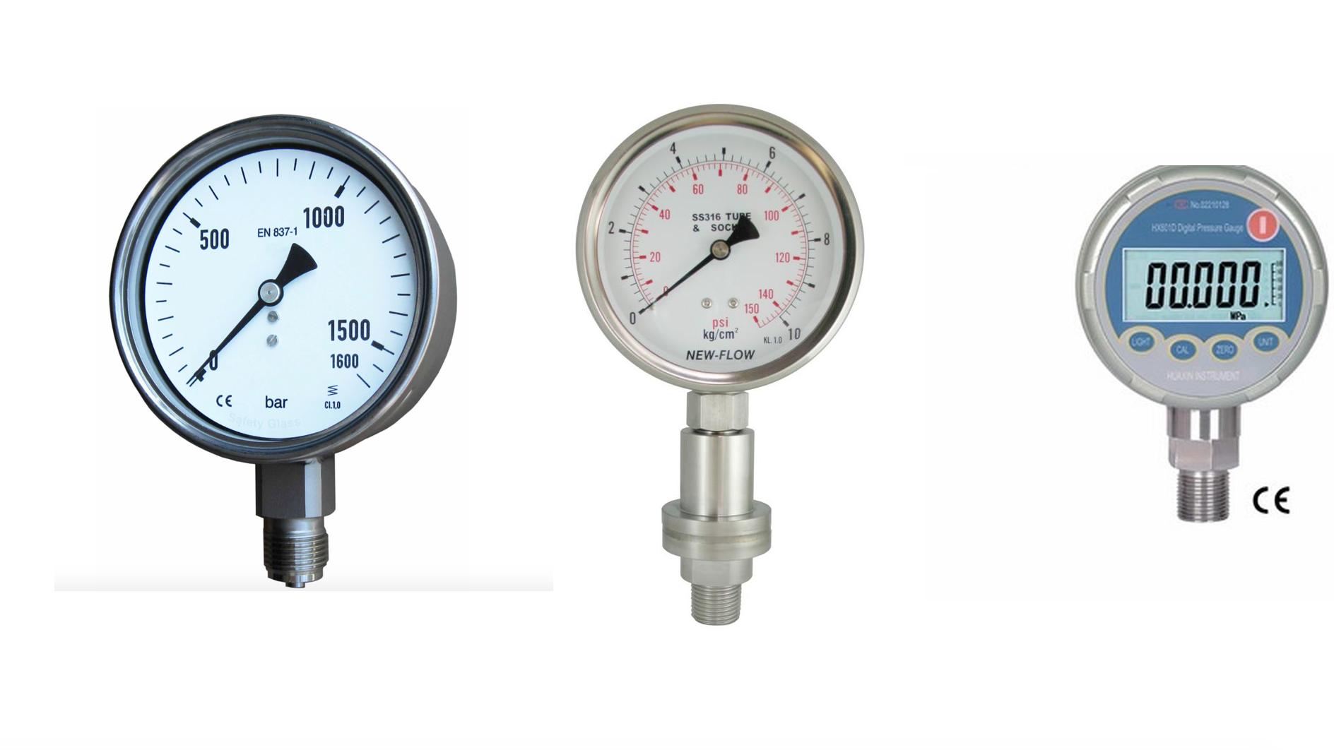 Các dòng đồng hồ áp suất thông dụng