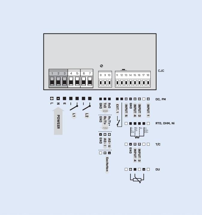 Sơ đồ đấu dây bộ điều khiển áp suất