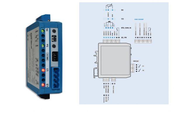 Sơ đồ đấu dây bộ chuyển tín hiệu OMX333PWR