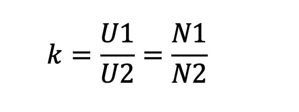 Công thức tính tỷ số vòng dây