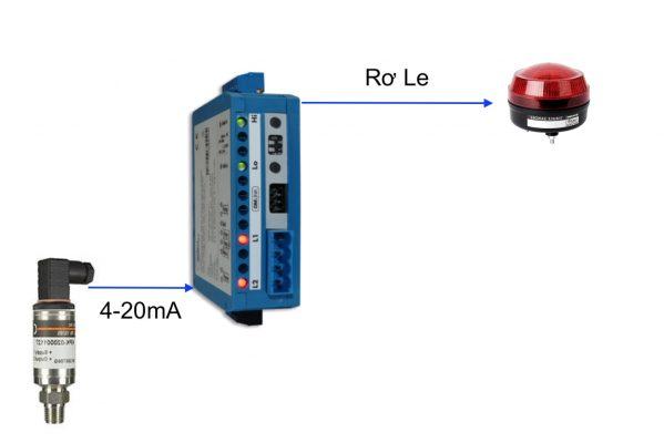 Ứng dụng bộ chuyển áp suất sang Relay điều khiển