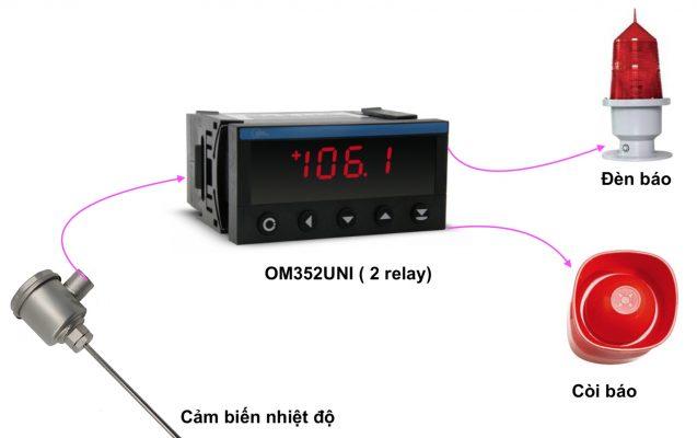Bộ cảnh báo nhiệt độ OM352UNI ( 2 relay )