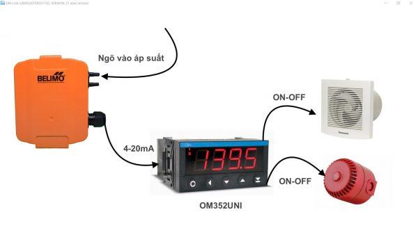 Ứng dụng điều khiển áp suất OM352UNI