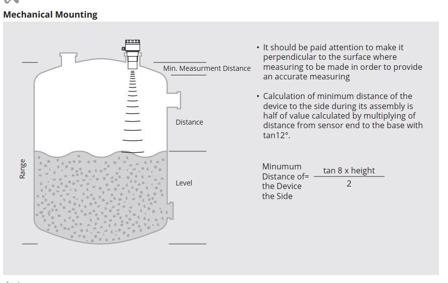 Cách lắp cảm biến đo mức siêu âm